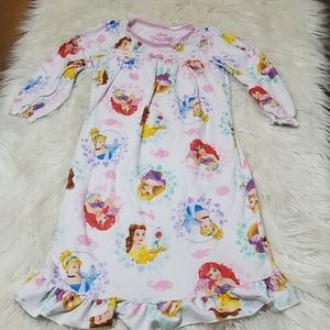 Disney Princess Long Sleeve Fleece Nightgown
